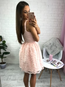 Straight Skirt Crew-Neck Lace Short Prom Dress Evening Dress Under 100$