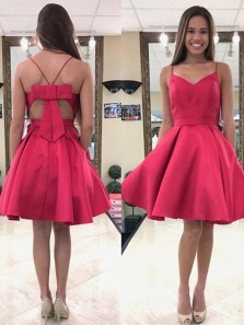 A-Line/Princess Sweetheart Backless Stain Short/mini Homecoming Dress Under 100$