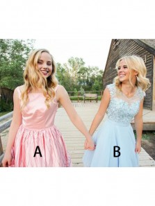 Newest Cute Pink Lace Homecoming Dress ,A Line Cap Sleeve sweet 16 Homecoming Gowns
