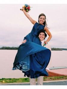 Vintage A-Line Bateau Neck Open Back Teal Taffeta Long Prom Dress, Discount Formal Evening Dress