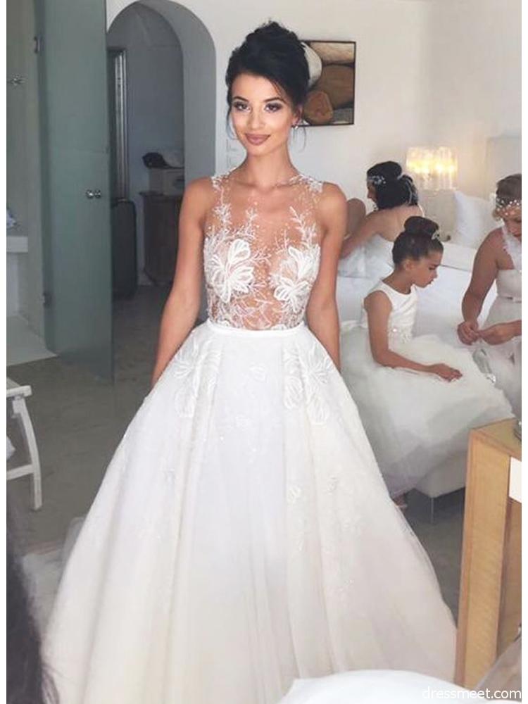 unique back wedding dresses