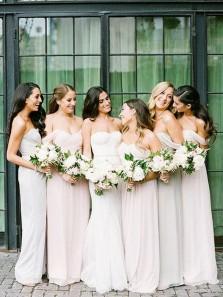 Simple Sheath Sweetheart Chiffon Pink Long Bridesmaid Dresses Under 100, Free Custom Made Bridesmaid Dresses