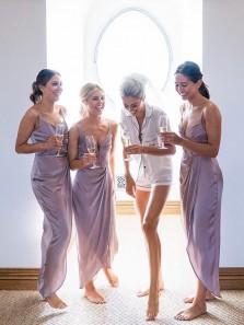 Charming Sheath Sweetheart Light Purple Chiffon Long Bridesmaid Dresses Under 100 BD0807006