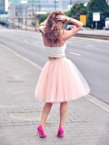 Cute A Line Two Piece Sweetheart Spaghetti Straps Pink Short Homecoming Dresses, Simple Short Prom Dresses Under 100