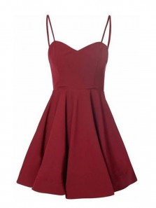 Cute A Line Sweetheart Spaghetti Straps Burgundy Short Homecoming Dresses Under 100, Simple Short Party Dresses
