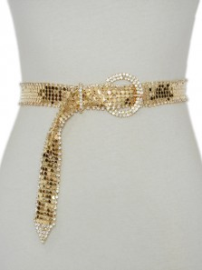 Women Rhinestone Belt Shiny Diamond Crystal Ladies Waist Belt Length 31.5~40 inch