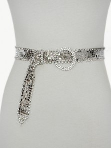 Women Rhinestone Belt Shiny Diamond Crystal Ladies Waist Belt Length 31.5~40 inch