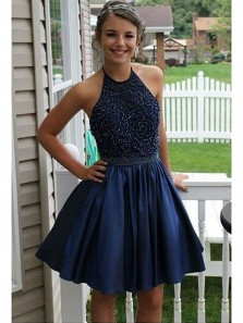 Beaded Homecoming Dress, Short Party Dress, High Quality Short Prom Dresses