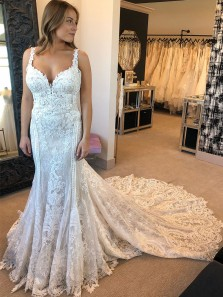 Gorgeous Mermaid Vintage Lace & Appliques Wedding Dresses with Train WD19110901