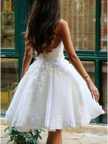 Cute A Line Short Prom Party Dresses,Soft Sweetheart Backless White Lace Homecoming Dress