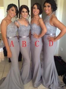 Hot-selling Sheath Long Chiffon Bridesmaid /Wedding Party Dress
