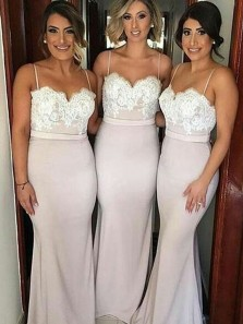 Mermaid Off-the-Shoulder Sweep Train Pink Bridesmaid Dress with Appliques 3554003