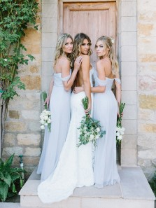 Elegant Baby Blue Off the Shoulder Slit Long Bridesmaid Dresses for Wedding Party Under 100 Custom BD0615003