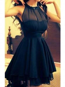 A-Line/Princess Jewel Sleeveless Chiffon Short/Mini Dresses Under 100$