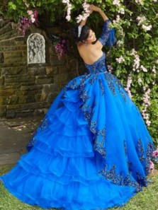 Ball Gown Royal Blue Custom Dress